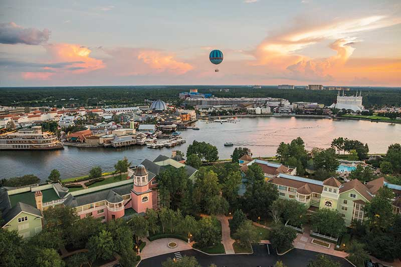 Disney Springs with Balloon Above