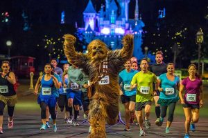 runDisney racing with Chewbacca