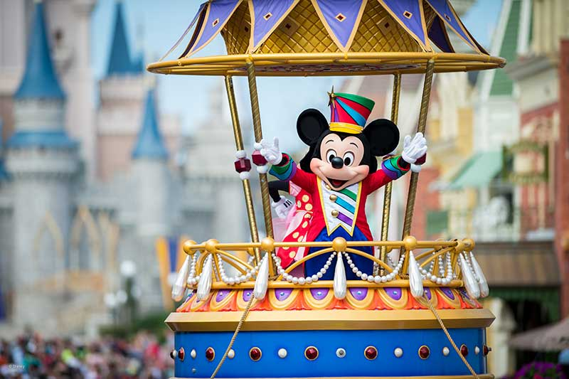 Mickey Mouse at Magic Kingdom Parade