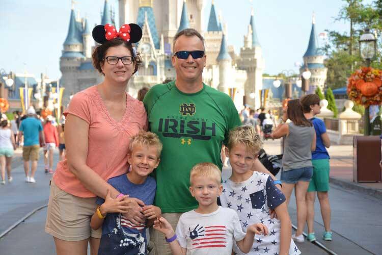 Disney World Disability Family Photo