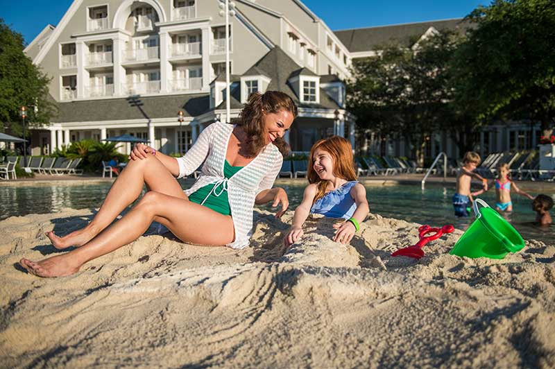 Disney Beach Club Luxury Pool Area