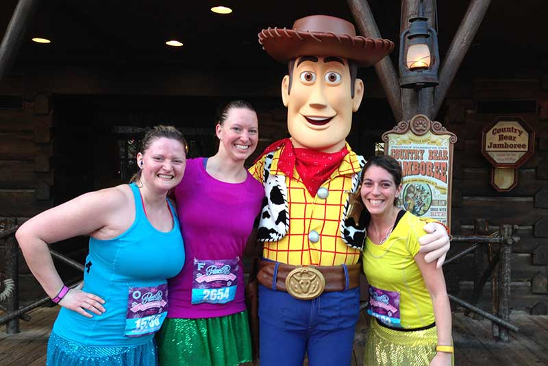 runDisney Photo with Woody